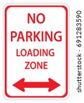 red and white sign for no... | Shutterstock .eps vector #691283590