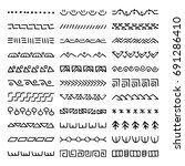 hand drawn vector dividers. set ... | Shutterstock .eps vector #691286410
