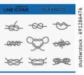 vector icons of sea knot... | Shutterstock .eps vector #691286476