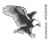 eagle emblem isolated on white...   Shutterstock .eps vector #691293538