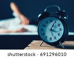 sleeping disorder or insomnia... | Shutterstock . vector #691296010