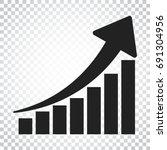 Growth Chart Icon. Grow Diagra...