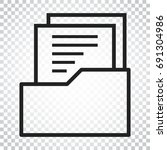 document flat vector icon.... | Shutterstock .eps vector #691304986