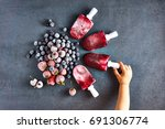 child hands holding delicious... | Shutterstock . vector #691306774