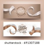 grand opening banners with...   Shutterstock .eps vector #691307188