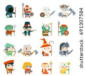 fantasy rpg game heroes... | Shutterstock .eps vector #691307584