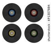 vintage retro 80's vector vinyl ... | Shutterstock .eps vector #691307884