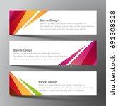 web banner design background... | Shutterstock .eps vector #691308328