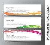 web banner design background... | Shutterstock .eps vector #691308334