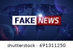 fake news vector broadcasting... | Shutterstock .eps vector #691311250