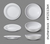 white empty ceramic plate in