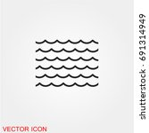 sea icon vector | Shutterstock .eps vector #691314949