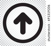 arrow up vector icon. forward...