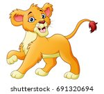 cartoon lioness isolated on... | Shutterstock . vector #691320694