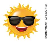 sun with sunglasses  with... | Shutterstock .eps vector #691322710