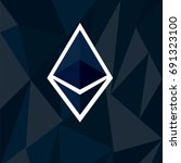 cryptocurrency ethereum concept.... | Shutterstock .eps vector #691323100