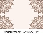 vintage background with floral...   Shutterstock .eps vector #691327249