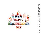 happy indian independence day... | Shutterstock .eps vector #691330024