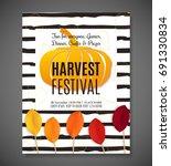 harvest festival poster. vector ... | Shutterstock .eps vector #691330834