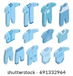 isometric icon set children's...   Shutterstock . vector #691332964