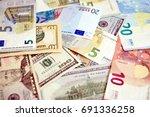 euro vs dollar | Shutterstock . vector #691336258