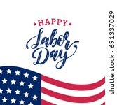 Vector Labor Day Greeting Or...
