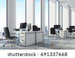 White Open Office Environment...