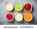 variety of colorful vegetables... | Shutterstock . vector #691340914