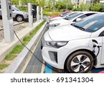 electric car charging station...