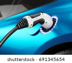 electric car concept   charging
