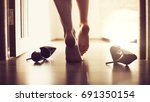 erotic photo. sexy woman shoes | Shutterstock . vector #691350154