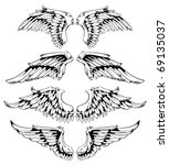 wings for your vintage design.... | Shutterstock .eps vector #69135037