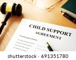 document with the name child... | Shutterstock . vector #691351780