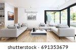 Modern Bright Living Room...