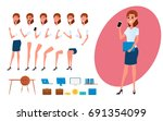 business woman character... | Shutterstock .eps vector #691354099