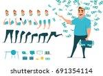 businessman character creation...   Shutterstock .eps vector #691354114