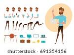 businessman character creation... | Shutterstock .eps vector #691354156