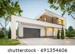 3d rendering of modern cozy... | Shutterstock . vector #691354606