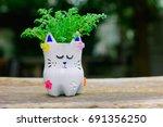 d.i.y plastic bottle craft for... | Shutterstock . vector #691356250