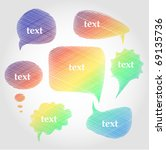 colorful hand drawn speech and... | Shutterstock .eps vector #69135736