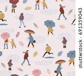 vector illustration of people... | Shutterstock .eps vector #691359043