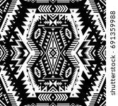 black and white tribal vector...   Shutterstock .eps vector #691359988