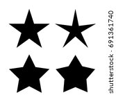 five pointed star icons set | Shutterstock .eps vector #691361740