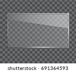 vector glass frame. isolated on ... | Shutterstock .eps vector #691364593