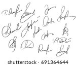 manual signature for documents... | Shutterstock .eps vector #691364644