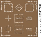 frames. decorative elements.... | Shutterstock .eps vector #691367434