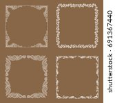 frames. decorative elements.... | Shutterstock .eps vector #691367440