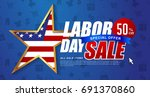 labor day sale promotion... | Shutterstock .eps vector #691370860