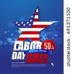 labor day sale promotion... | Shutterstock .eps vector #691371100