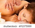 body care. spa body massage...   Shutterstock . vector #691375000